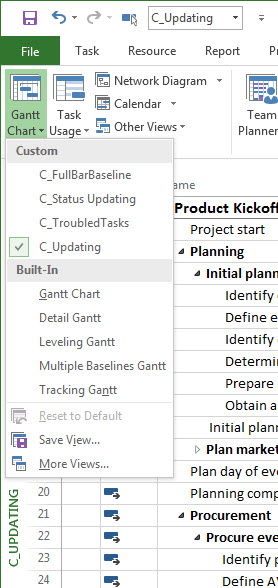 What If You Display A Built In Project View And Go Wild Building Super Cool Customized With Filters Groups Timescale Settings Table Columns